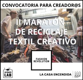 Convocatoria: II Maratón de reciclaje textilcreativo
