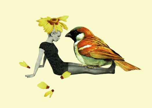 Tijeras y poemas - Margarita -pájaro
