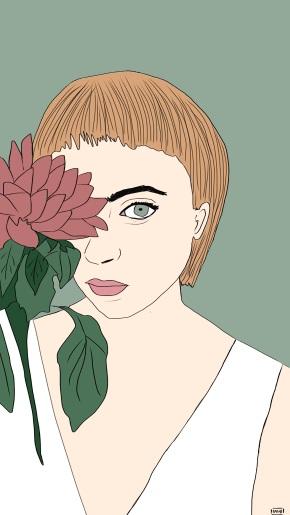 Rachi entre flores, magia en susilustraciones