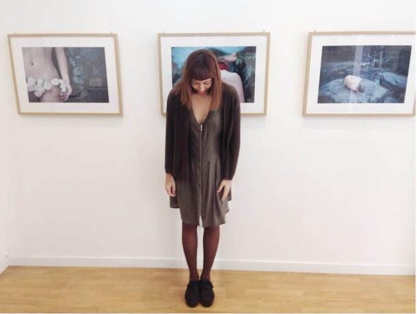 """Irene Cruz en la inaiguración de """"The Muses"""" en la Galería Fifty Dots"""