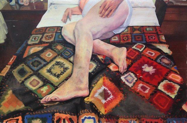 © Virginia Bersabé - en su habitación